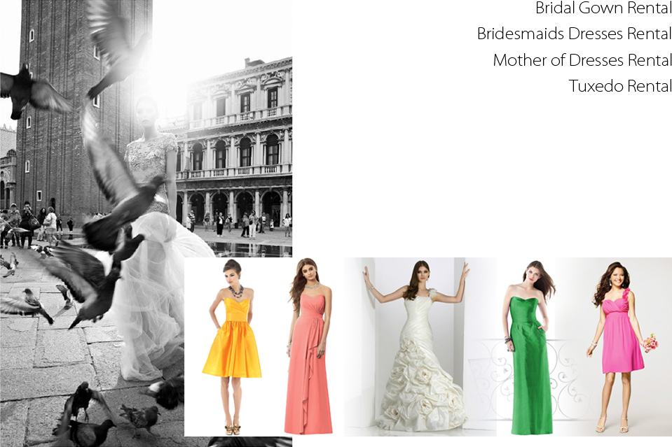 Wedding Dress Bridal Gown Rental Bridesmaids Dresses Rental Qipao Cheongsam Kwa Qun Rental Tuxedo Rental